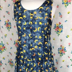 Vintage Dresses - Sun and moon celestial 90s dress